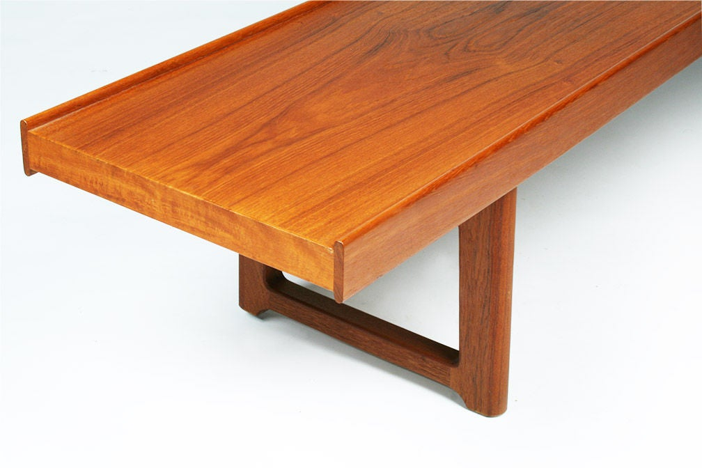 Long Low Teak Plank Bench 'Krobo' by Torbjörn Afdal for Bruksbo For Sale 3