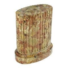 Scagliola Fluted Oval Pedestal