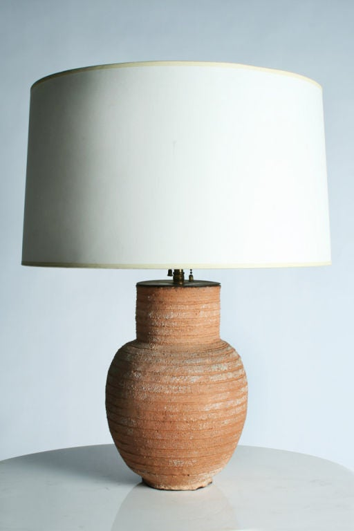 Terra Cotta Table Lamp After Jean Michel Frank At 1stdibs