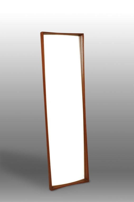 Swedish Tall Teak Framed Entry Mirror By Ab Glas And Tr 228