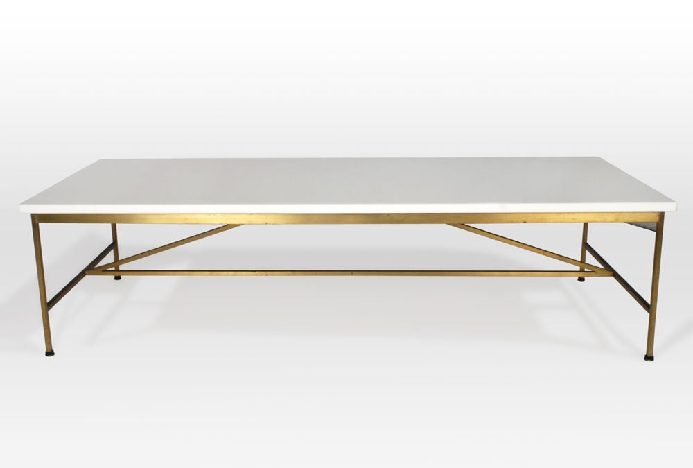 Vitrolite and Brass Cocktail Table by Paul McCobb image 2