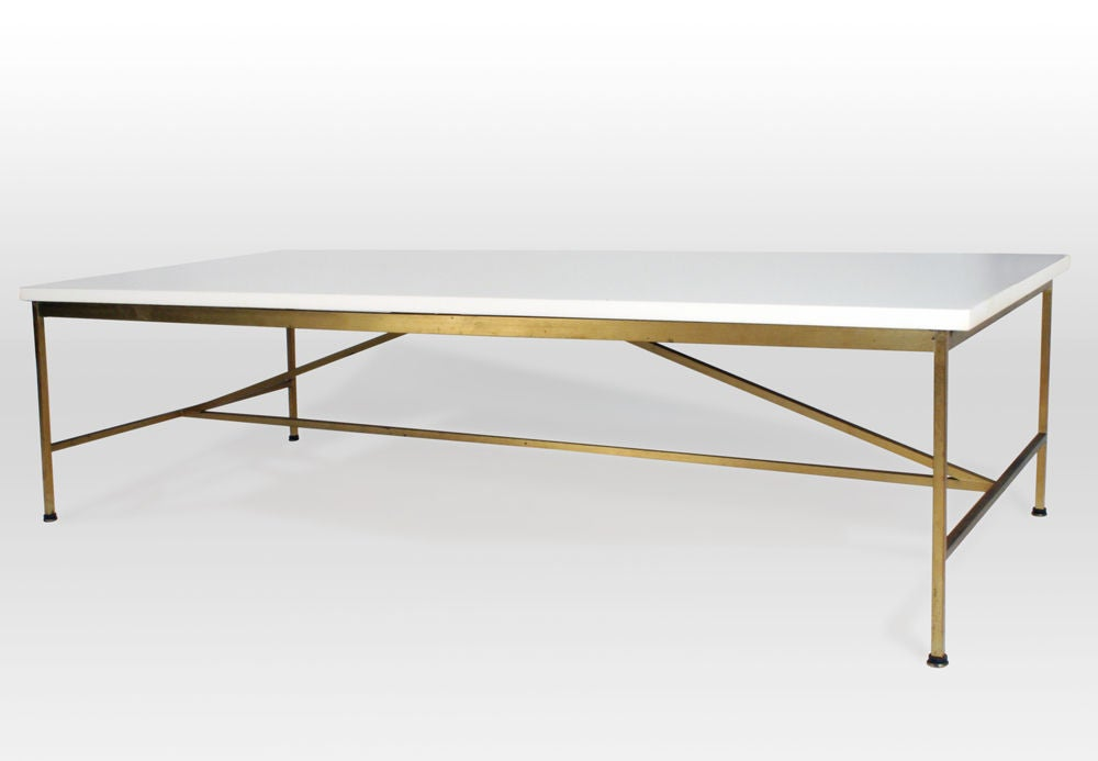 Vitrolite and Brass Cocktail Table by Paul McCobb image 3