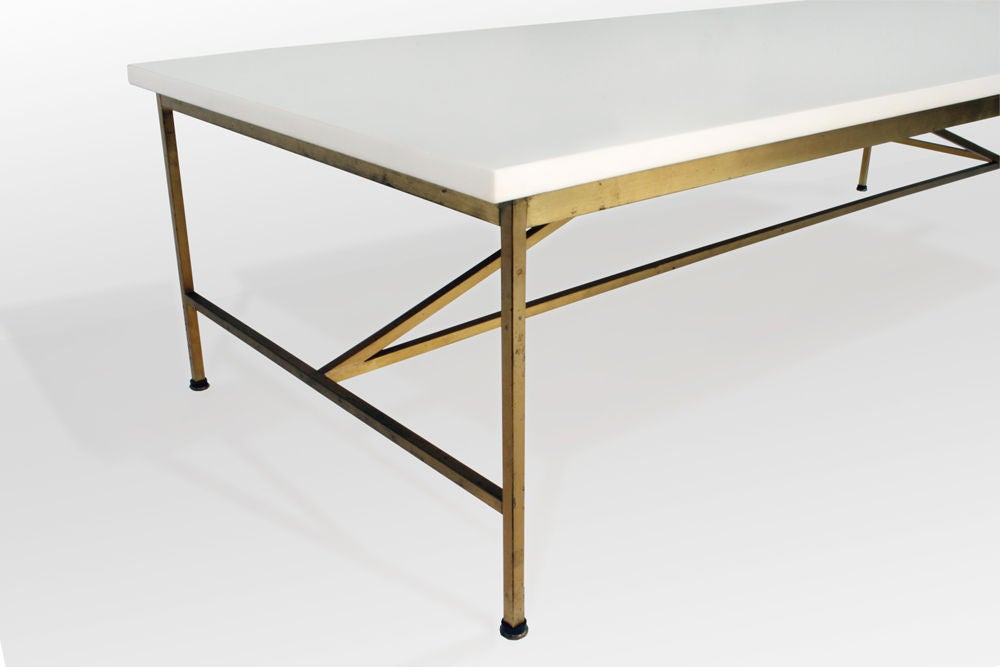 Vitrolite and Brass Cocktail Table by Paul McCobb image 4