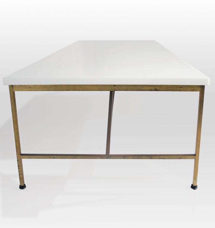 Vitrolite and Brass Cocktail Table by Paul McCobb image 5