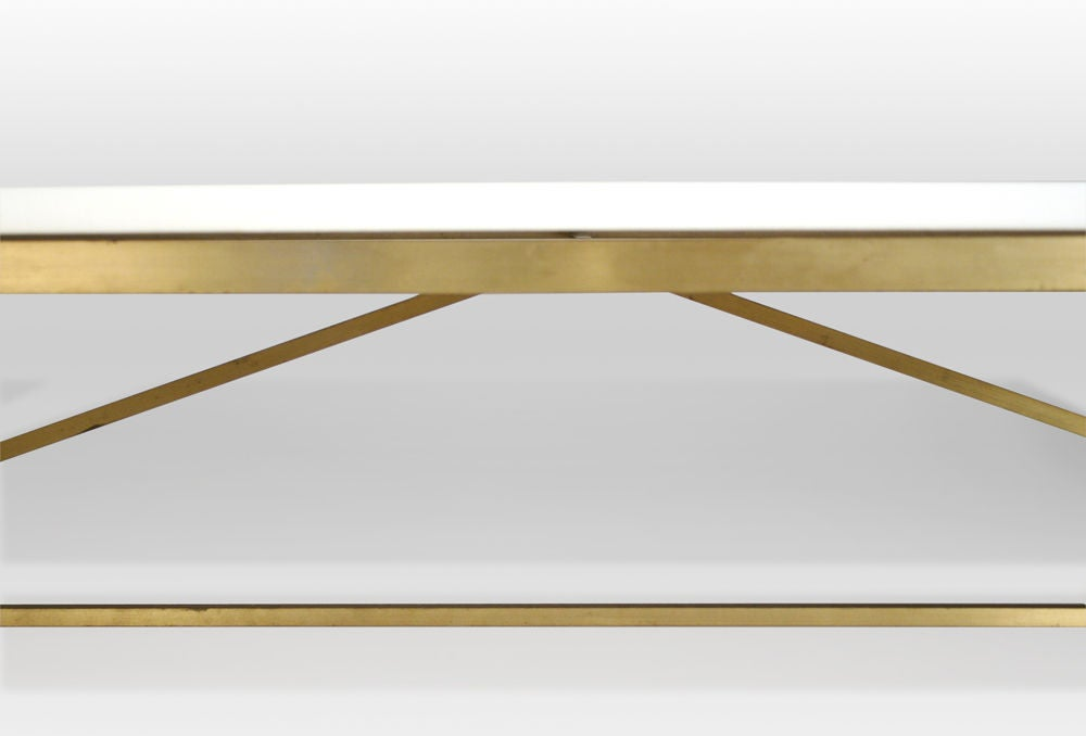 Vitrolite and Brass Cocktail Table by Paul McCobb image 6