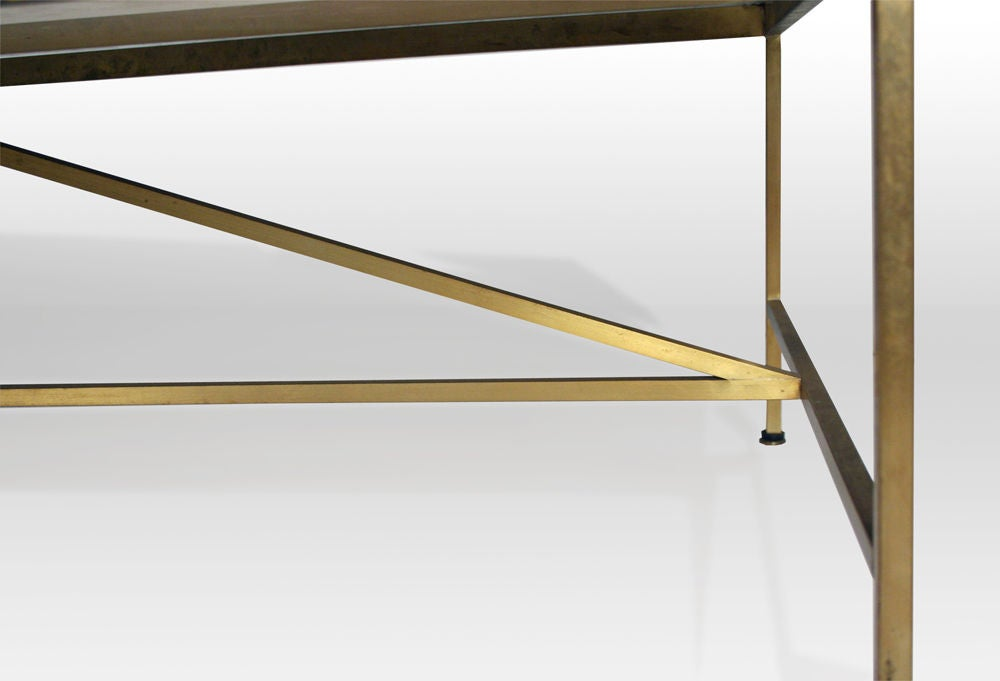 Vitrolite and Brass Cocktail Table by Paul McCobb image 8