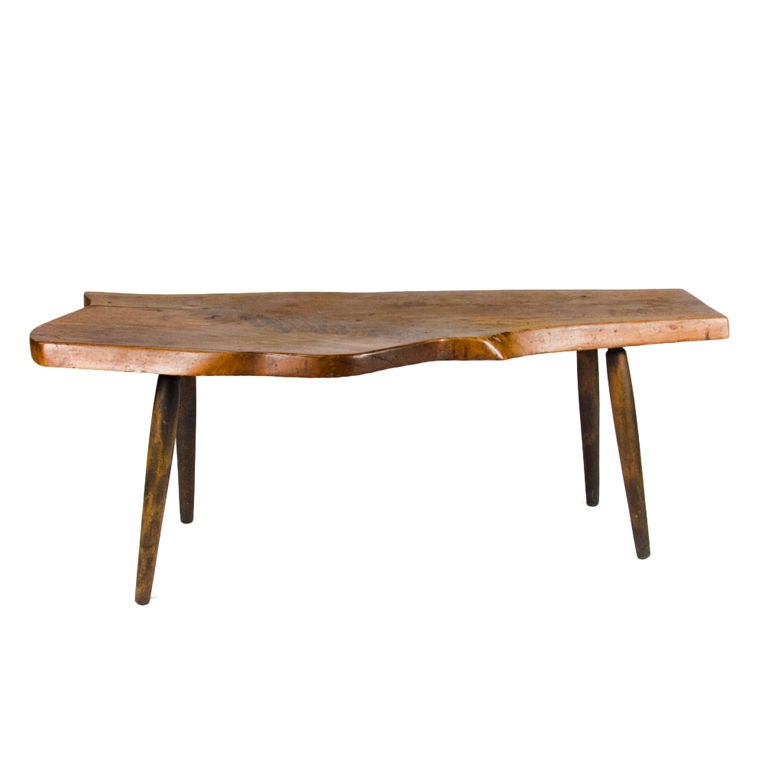 American Studio Craft Free Edge Cocktail Table by Roy Sheldon
