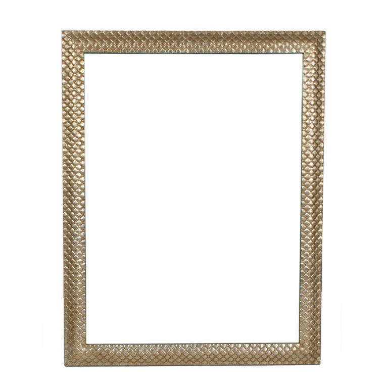 Large rectangular silvered florentine frame mirror at 1stdibs for Types of mirror frames