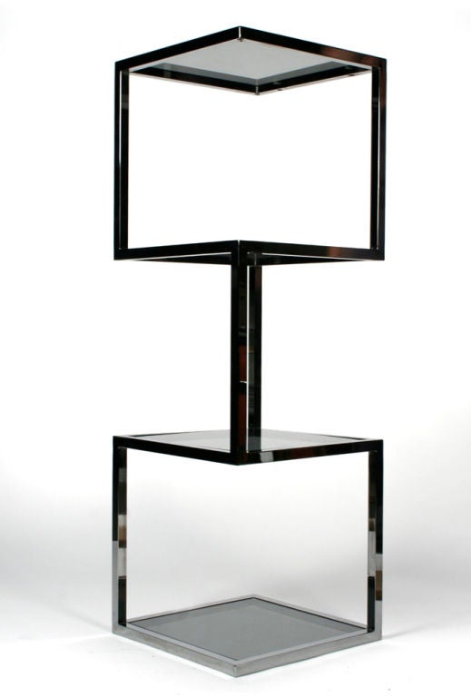 Asymmetrical stacked cubes etagere after milo baughman at 1stdibs - Etageres cubes modulables ...