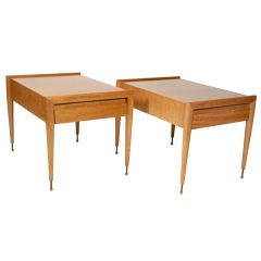 Pair of Mahogany Side Tables by John Keal for Brown Saltman