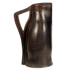 English Leather Drinking Vessel