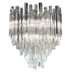 Round Cascading Crystal Chandelier by Camer