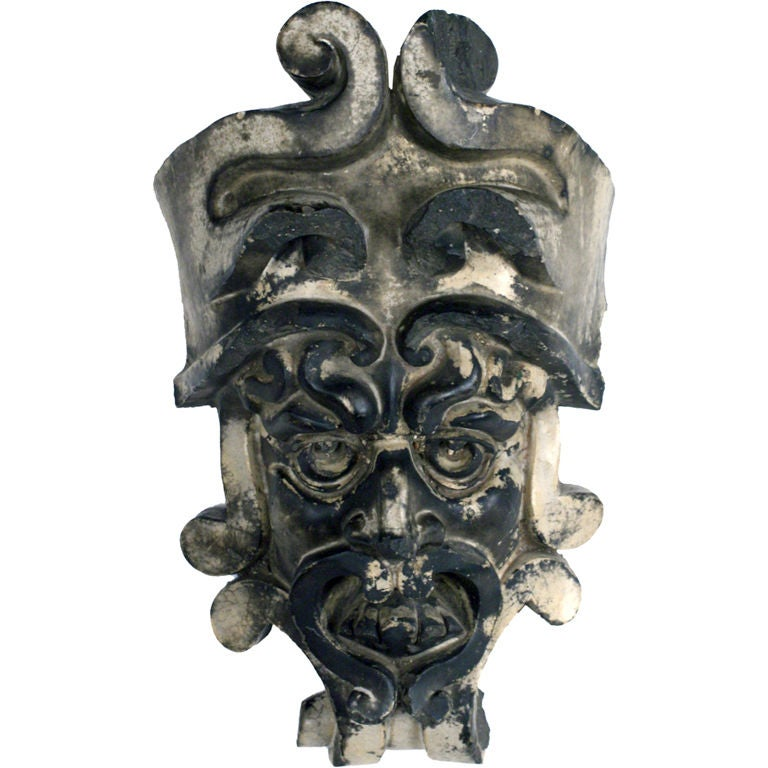 Pre-Columbian Style Terra Cotta Mask