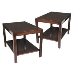 Pair of Rectangular Two Tier End Tables by Edward J Wormley