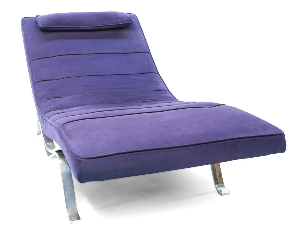 Low and wide chaise longue by george nelson for herman - Chaise eames belgique ...