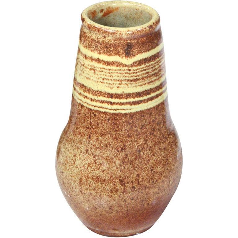 Glazed Ceramic Vase by Design Technics For Sale