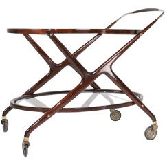 Oval Serving Cart by Cesare Lacca