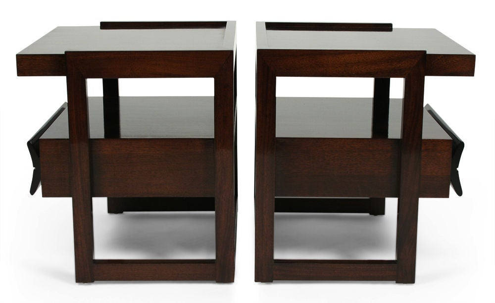 American Pair of Nightstands by Paul Laszlo for Brown Saltman For Sale