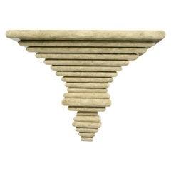 Italian Ziggurat Laminated Wall Console