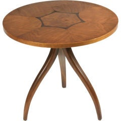 Inlaid Topped Tripod Gueridon Table by Drexel