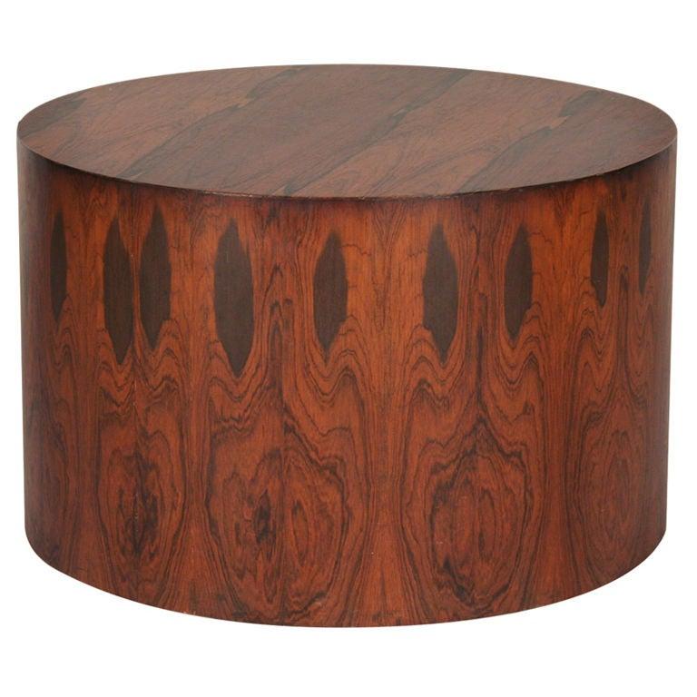 Rosewood Veneer Drum Table By Harvey Probber 1