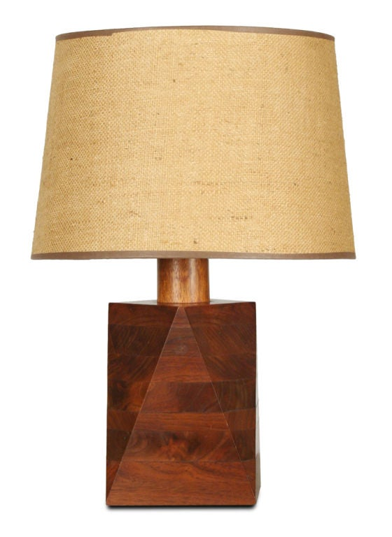 wooden geometric table lamp best inspiration for table lamp. Black Bedroom Furniture Sets. Home Design Ideas
