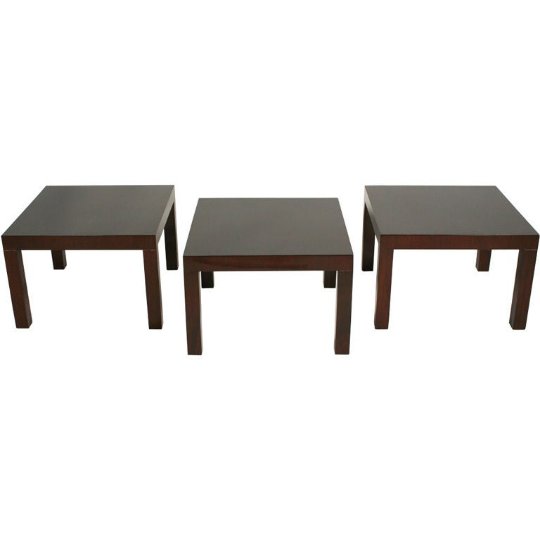 Set of Three Parsons Occasional Tables by T H Robsjohn