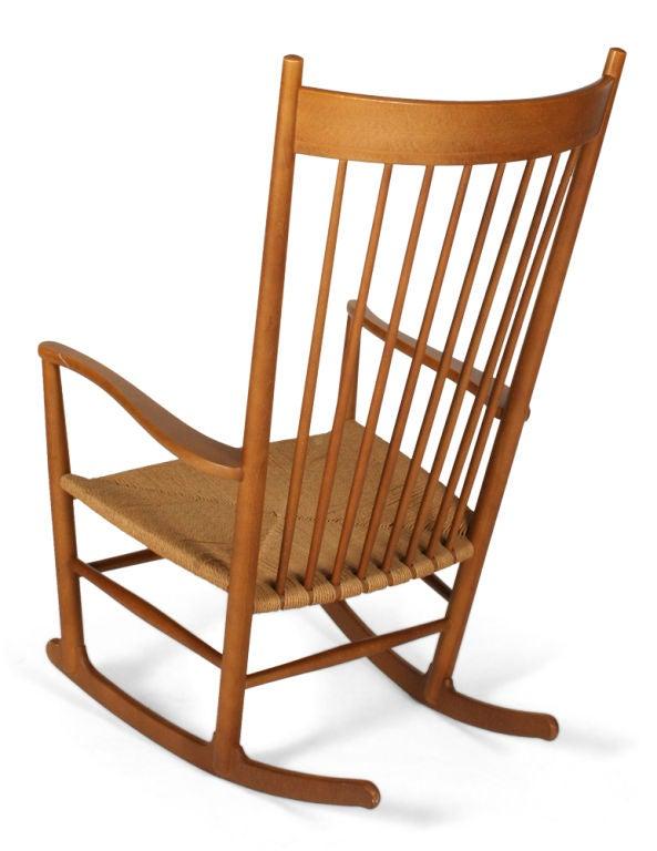 Danish J-16 Rocking Chair by Hans Wegner for FDB Møbler For Sale