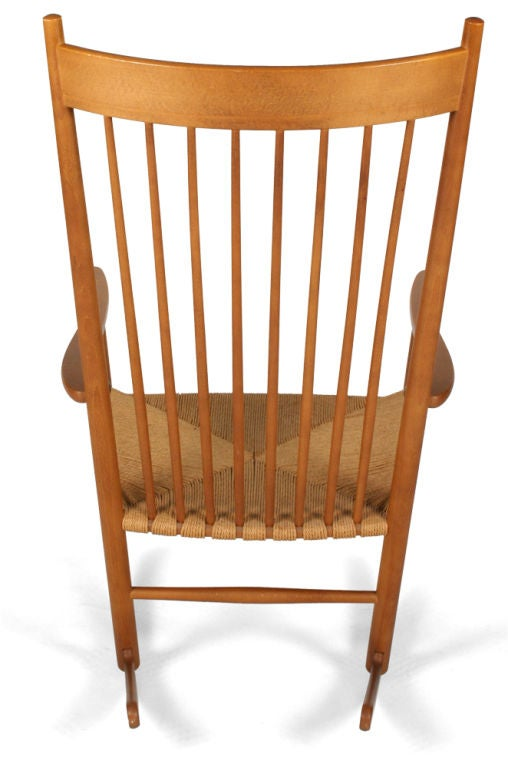 J-16 Rocking Chair by Hans Wegner for FDB Møbler In Excellent Condition For Sale In New York, NY