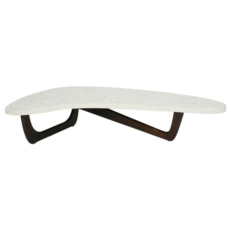 Terrazzo Top Boomerang Cocktail Table By Craft Associates