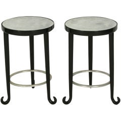 Pair of Antique Mirrored Top Bentwood Gueridons after Thonet