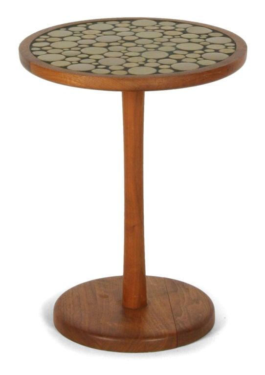 Ceramic tile top pedestal occasional table by gordon martz for sale at 1stdibs - Ceramic pedestal table base ...