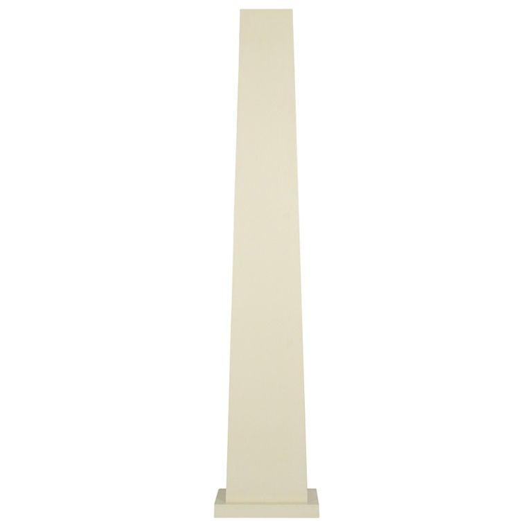 Ivory Lacquered Backlit Obelisk Pedestal