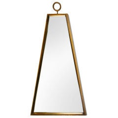 Trapezoidal Giltwood Frame Mirror After Tommi Parzinger