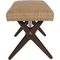 Trestle Base Upholstered Bench by Edward J Wormley for Dunbar