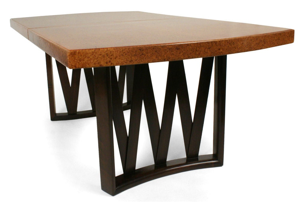 Cork Top Dining Table By Paul Frankl For Johnson Furniture