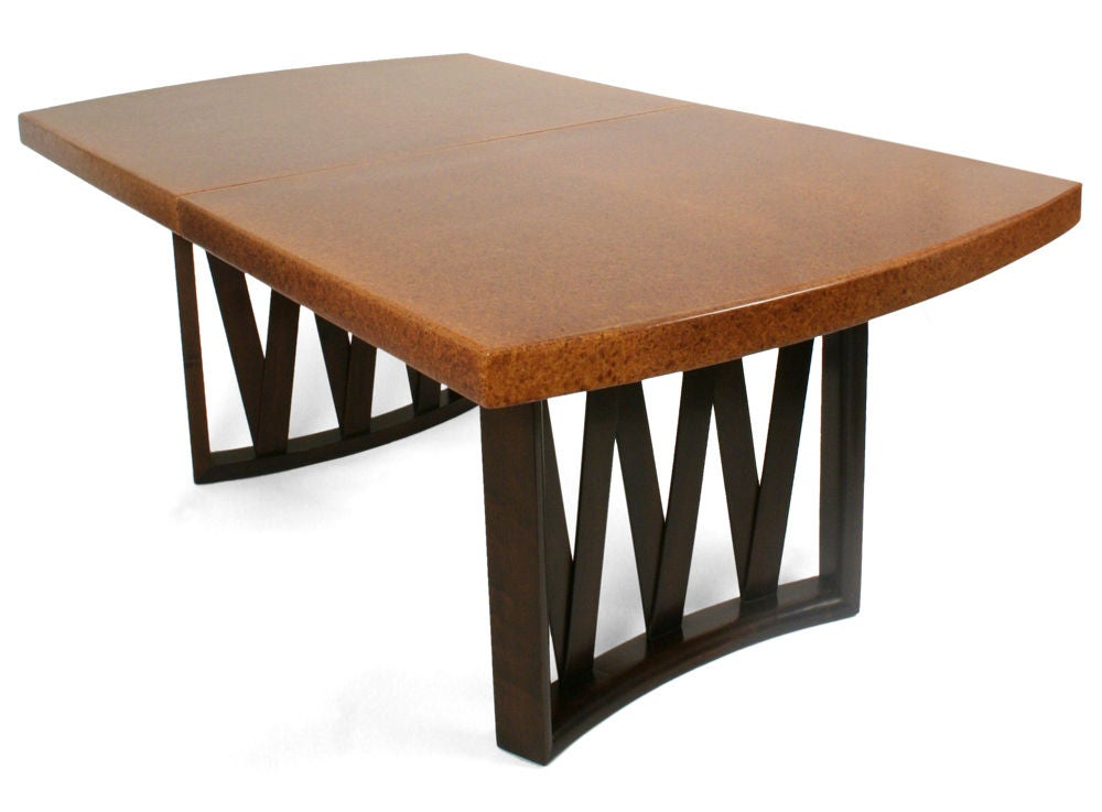 Mahogany Cork Top Dining Table By Paul Frankl For Johnson Furniture Co Sale