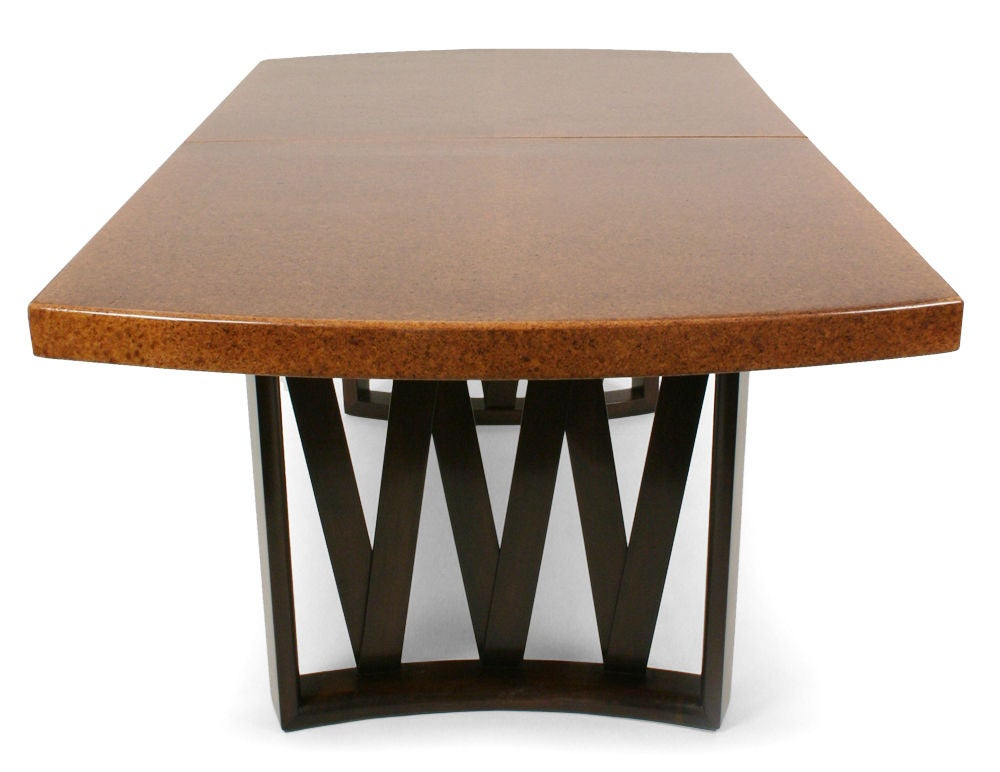 cork top dining table by paul frankl for johnson furniture co image 8