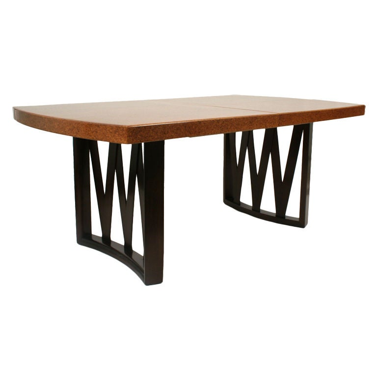 Cork Top Dining Table By Paul Frankl For Johnson Furniture Co For
