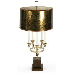 Five Arm, Faux Parchment Base Table Lamp by Marbro