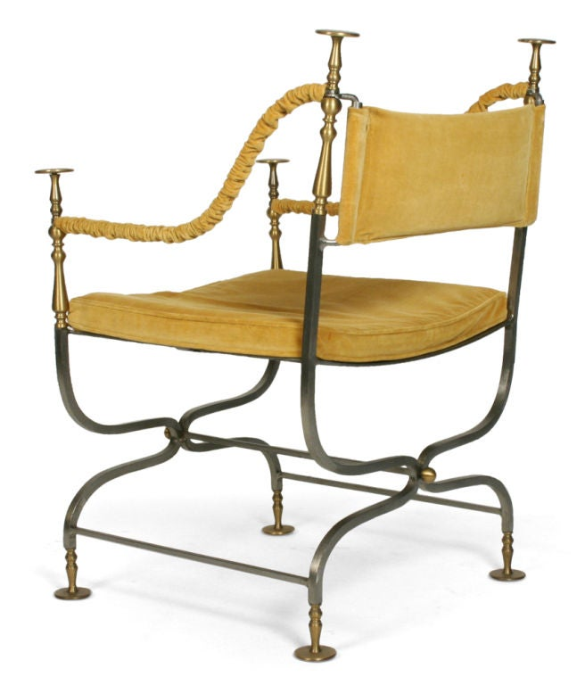 Mid-20th Century Italian Savonarola Chair For Sale