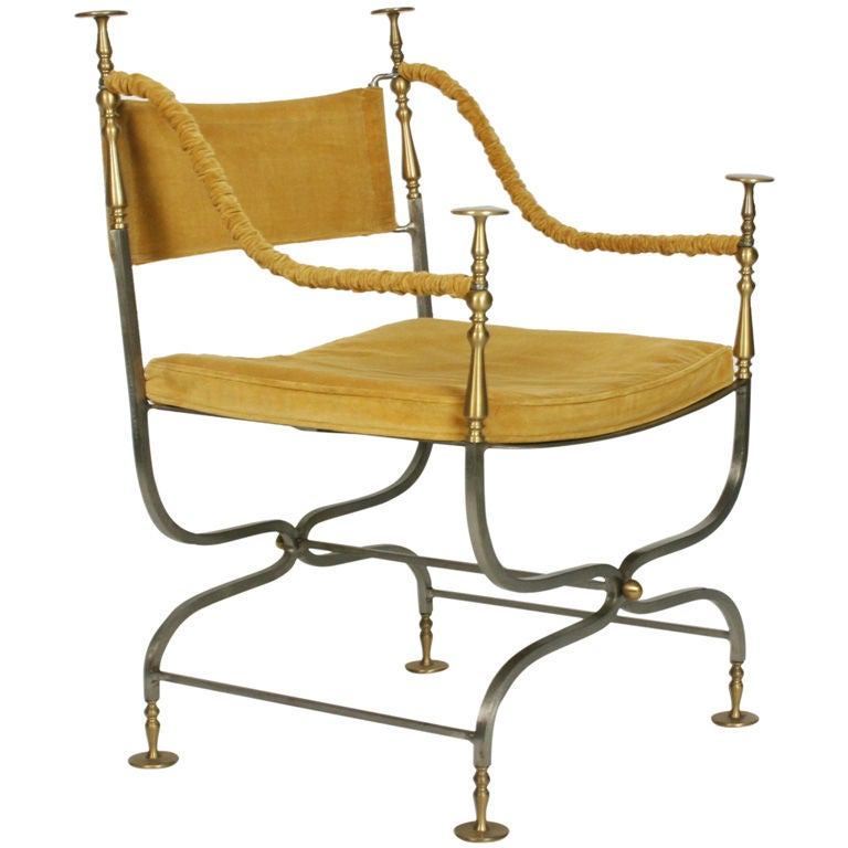 Italian Savonarola Chair For Sale