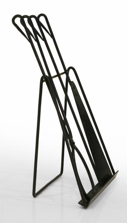Scandinavian Modern Easel Standing Fireplace Tool Set by Illums Bohlighus For Sale