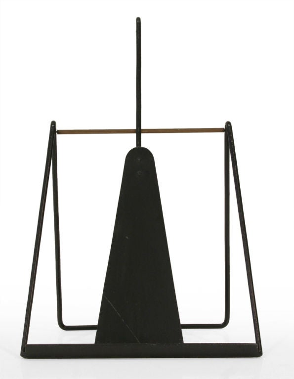 Easel Standing Fireplace Tool Set by Illums Bohlighus In Excellent Condition For Sale In New York, NY