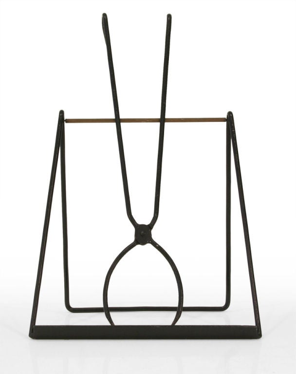 Brass Easel Standing Fireplace Tool Set by Illums Bohlighus For Sale