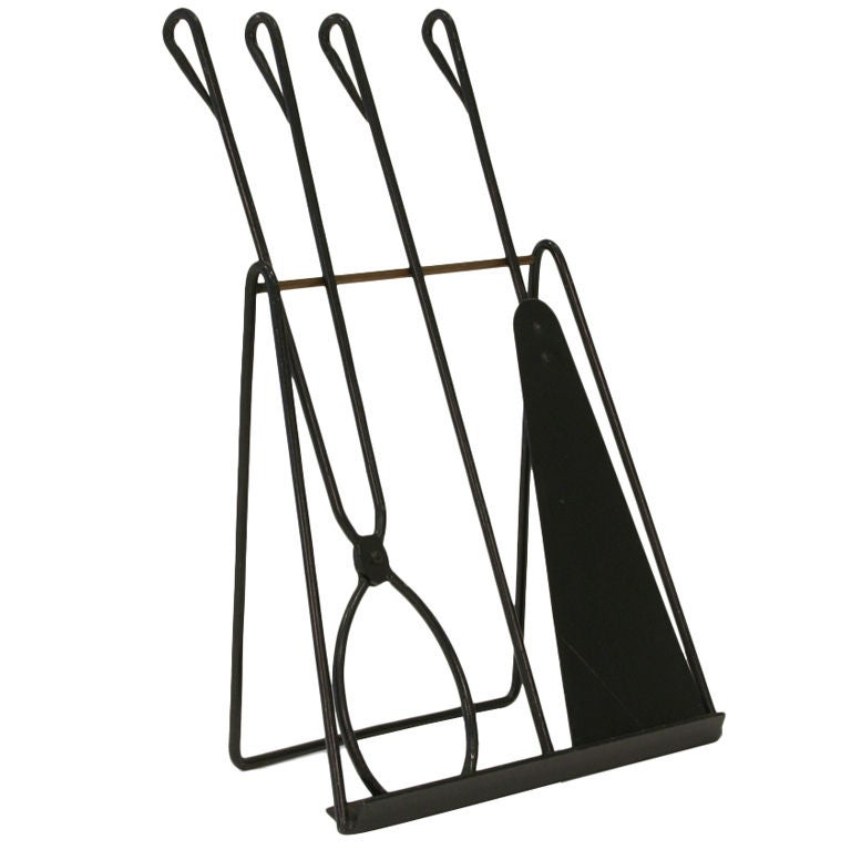 Easel Standing Fireplace Tool Set by Illums Bohlighus For Sale