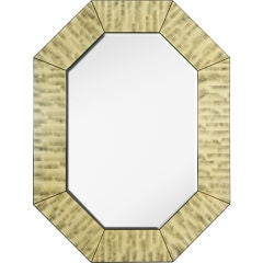 Tiger's Eye Octagonal Mirror by Maitland-Smith
