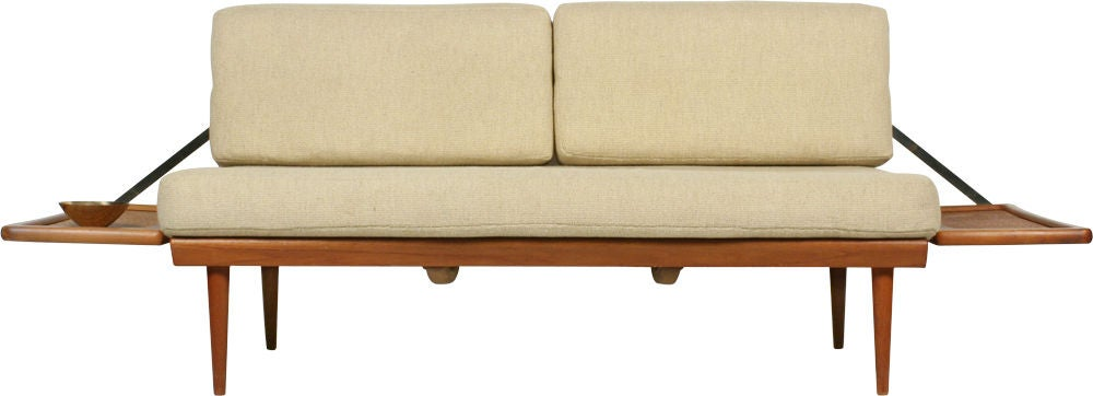 Danish Convertible Settee Daybed by Peter Hvidt for France & Sons For Sale