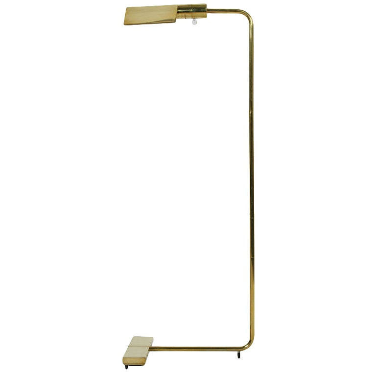Classic Cantilevered Swivel Brass Reading Lamp by Cedric Hartman