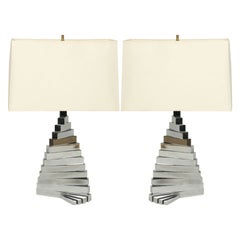 Pair of French Twist Table Lamps